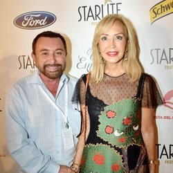 Carmen Lomana con José Manuel Parada en el Festival Starlite en Marbella