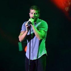 Pablo Alborán durante su concierto en el Festival Starlite en Marbella