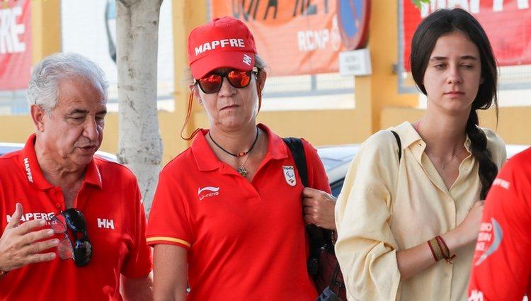 La Infanta Elena y Victoria Federica de Marichalar en la Copa del Rey de Vela 2018