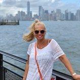 Belén Esteban posa muy sonriente en Nueva York