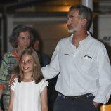 El Rey Felipe y la Infanta Sofía en la cena por el final de la Copa del Rey de Vela 2018