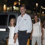 Los Reyes Felipe y Letizia y la Infanta Sofía en la cena por el final de la Copa del Rey de Vela 2018