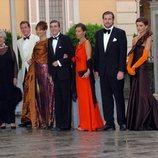 La Infanta Pilar y su familia durante la cena de gala previa a la boda de Felipe de Borbón y Letizia Ortiz