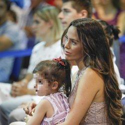 Marta Domínguez durante la presentación de Courtois con el Real Madrid