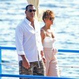 Jennifer Lopez y Alex Rodríguez en sus vacaciones en Capri