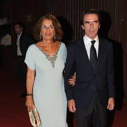 José María Aznar y Ana Botella en la Gala Starlite de Marbella 2018