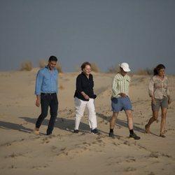 Pedro Sánchez, Angela Merkel y sus parejas durante su visita en Sanlúcar de Barrameda