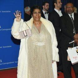 Aretha Franklin en la cena de corresponsales de la Casa Blanca 2016