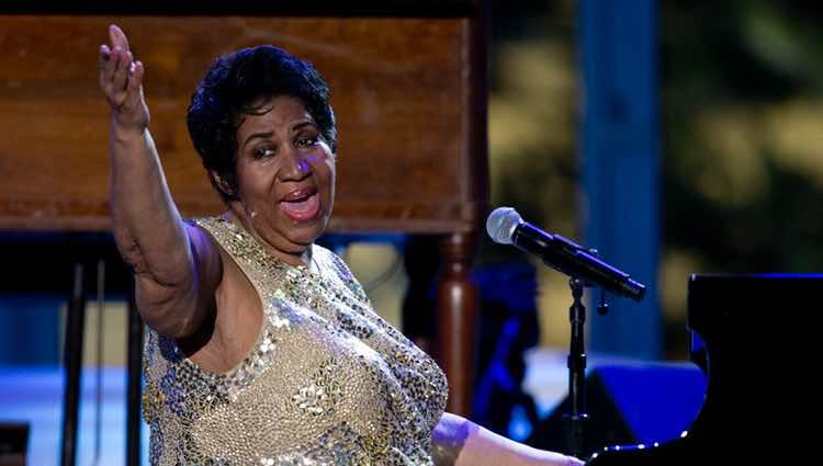 Aretha Franklin actuando en el Día Internacional del Jazz 2016