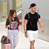 Chabelita Pantoja y Omar Montes a su llegada a Miami