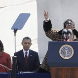 Aretha Franklin cantando en el homenaje a Martin Luther King Junior en 2011