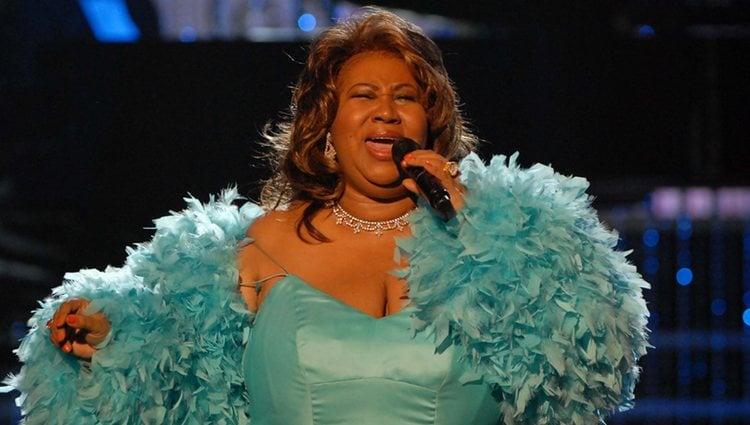 Aretha Franklin cantando en su propio homenaje en Los Ángeles