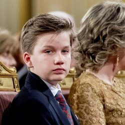 El Príncipe Gabriel de Bélgica en el Concierto de Navidad 2018