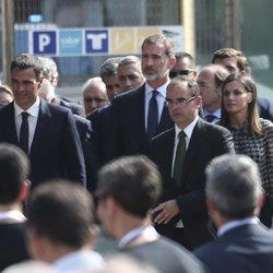 Los Reyes Felipe y Letizia y Pedro Sánchez en los actos por el primer aniversario de los atentados de Barcelona y Cambrils