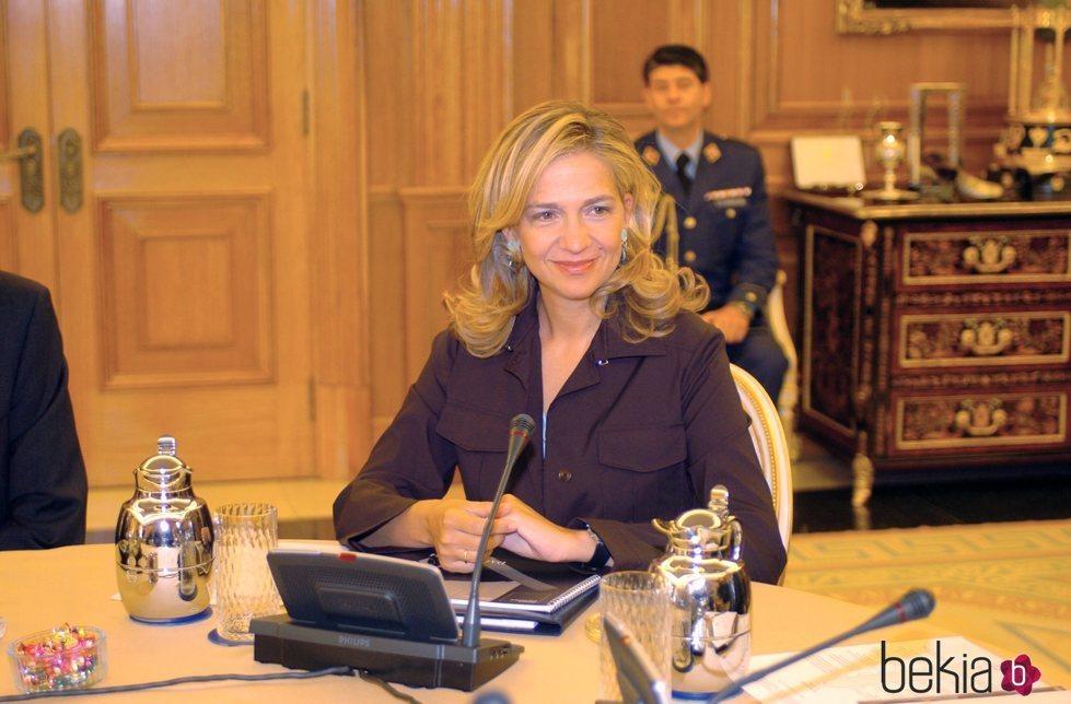 La Infanta Cristina en la comisión para la celebración del centenario del nacimiento de Salvador Dalí