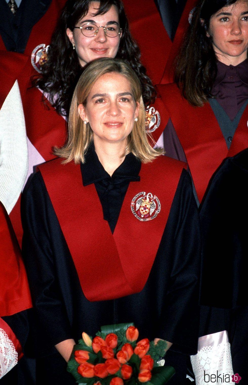 La Infanta Cristina en la graduación de estudiantes de la Universidad Complutense