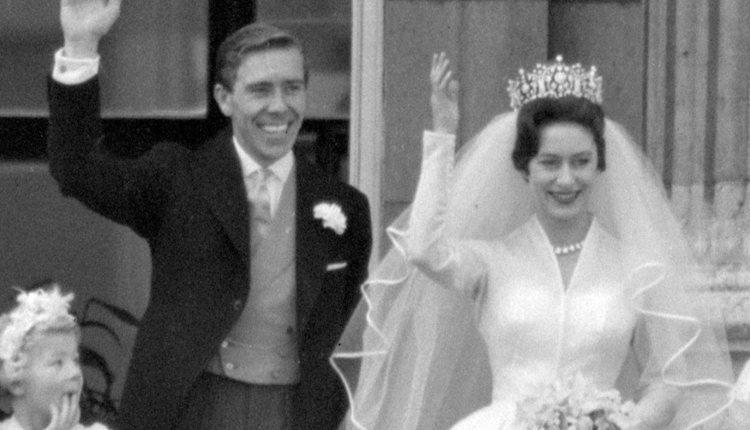 La Princesa Margarita y Anthony Armstrong-Jones el día de su boda