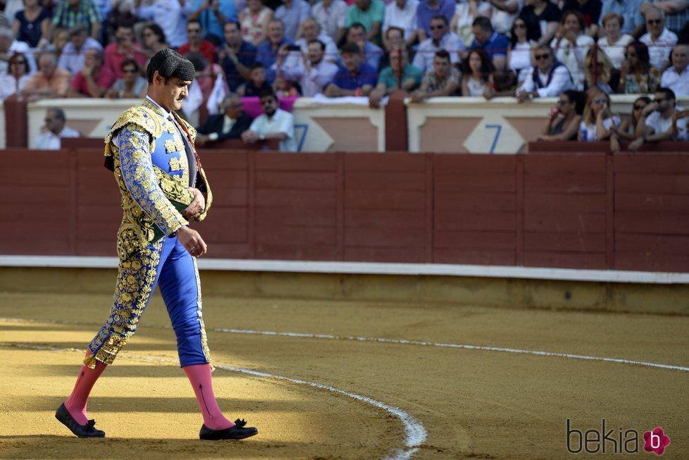 Jesulín de Ubrique entrando en la plaza de toros de Cuenca durante la Feria de San Julián 2018