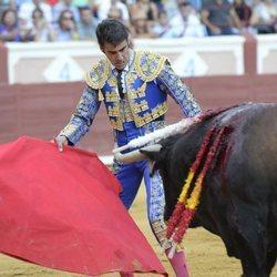 Jesulín de Ubrique toreando en la plaza de toros de Cuenca durante la Feria de San Julián 2018