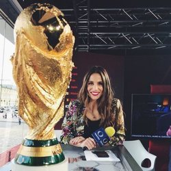 Lucía Villalón durante el Mundial de Rusia 2018