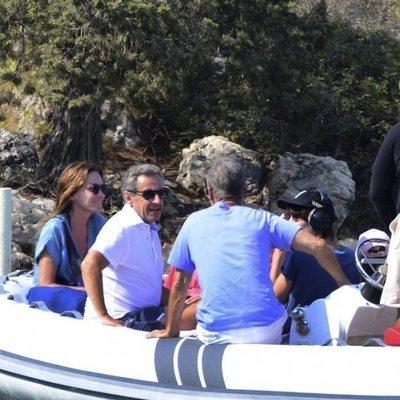 Nicolas Sarkozy y Carla Bruni durante sus vacaciones en Bodrum