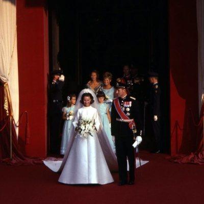 Boda de los Reyes Harald y Sonia de Noruega