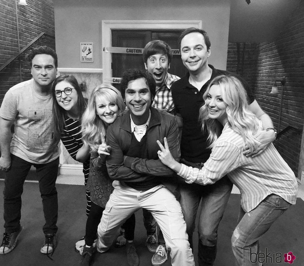 El reparto de 'The Big Bang Theory' antes de rodar su última temporada