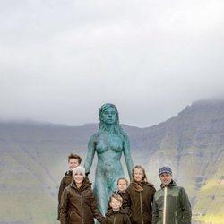 La Familia Real danesa en una visita oficial en las Islas Faroe