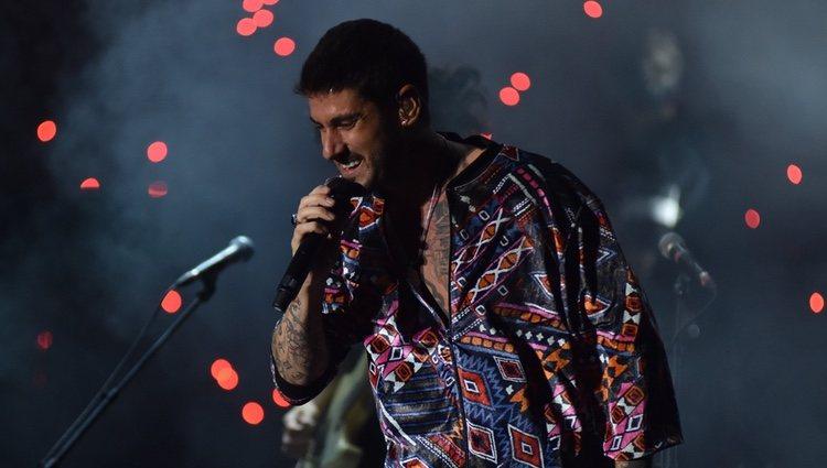 Melendi durante su concierto en el Festival Starlite de Marbella 2018