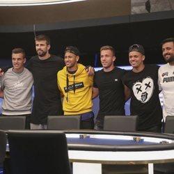 Gerard Piqué, Neymar, Sergio García y otros participantes en un torneo de póker benéfico