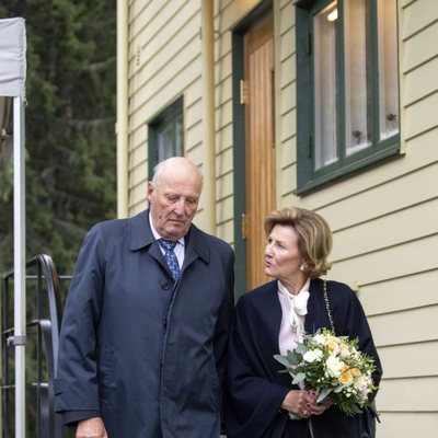 Harald y Sonia de Noruega en la inauguración de la casa-museo en la que vivió la Reina Sonia