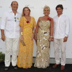 Fiona Ferrrer y Javier Fal-Conde en la fiesta de cumpleaños de Félix Revuelta