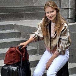 Isabel de Bélgica se despide antes de irse a estudiar a Reino Unido