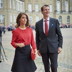 Joaquín y Marie de Dinamarca en la recepción a Emmanuel y Brigitte Macron en Amalienborg