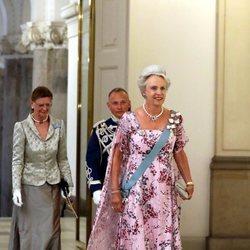 Benedicta de Dinamarca en la cena de gala en honor a Emmanuel Macron