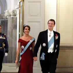 Joaquín y Marie de Dinamarca en la cena de gala en honor a Emmanuel Macron