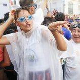 Alba Carrillo dándolo todo en la Tomatina de Buñol