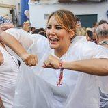 Alba Carrillo radiante de felicidad por asistir a la Tomatina de Buñol