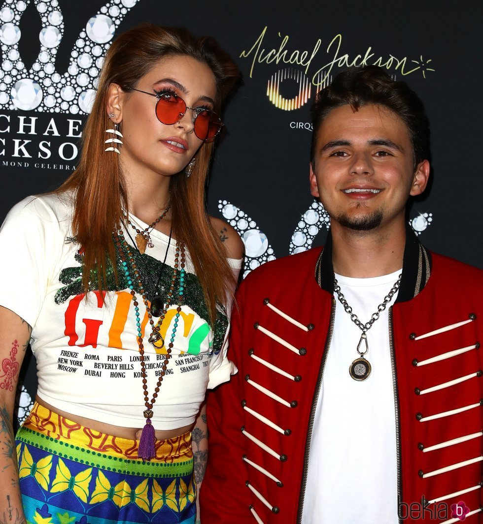 Paris y Prince Jackson en el evento 'Michael Jackson Diamond'