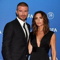 David y Victoria Beckham en la gala de la UEFA 2018