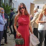 Lourdes Montes llegando a la Goyesca 2018