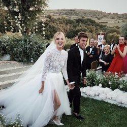 Chiara Ferragni y Fedez después de darse el 'sí, quiero'