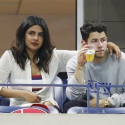 Nick Jonas y Priyanka Chopra en el USA OPEN 2018