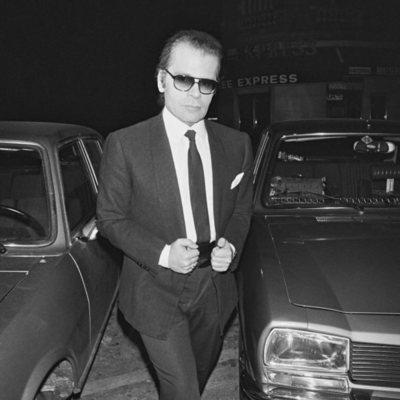 Karl Lagerfeld en París en 1978