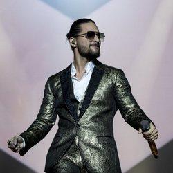 Maluma durante su concierto en el Palacio de los Deportes de Madrid