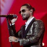 Maluma en su concierto de Madrid en el Palacio de los Deportes