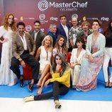 Los concursantes de la tercera edición de 'Masterchef Celebrity' en el FesTVal de Vitoria 2018