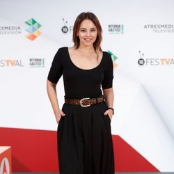 Chenoa durante la presentación de 'Tu cara me suena 7' en el FesTVal de Vitoria 2018