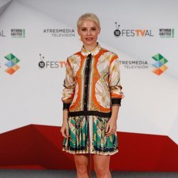 Soraya Arnelas en la presentación de 'Tu cara me suena 7' en el FesTVal de Vitoria 2018