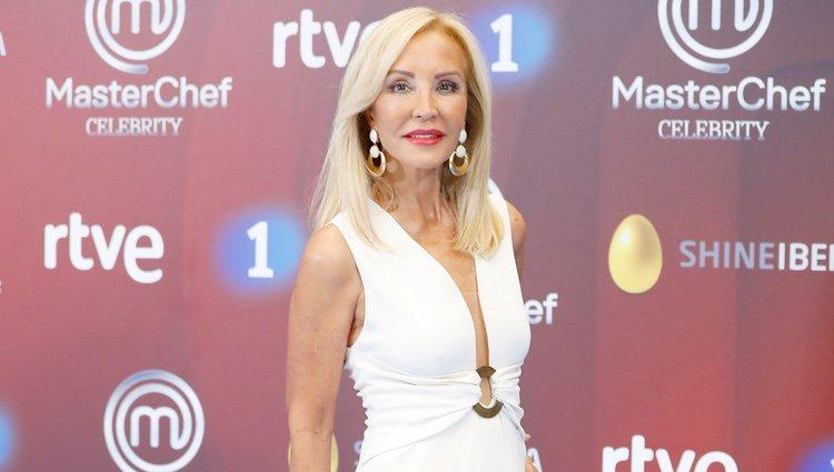Carmen Lomana en la presentación de 'Masterchef Celebrity 3' en el FesTVal de Vitoria 2018